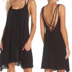 ELAN Cover-up Slipdress In Black